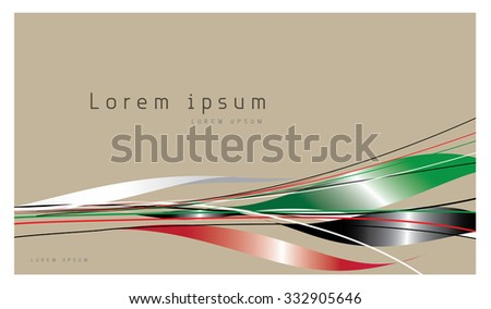 Abstract Background Flag, Emirates national flag colours. An isolated image - stock vector