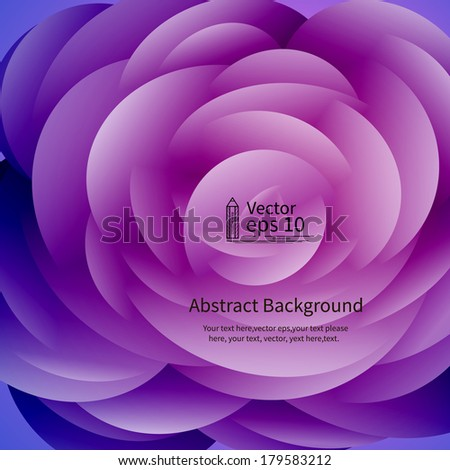 Abstract Background, Flower vector - stock vector