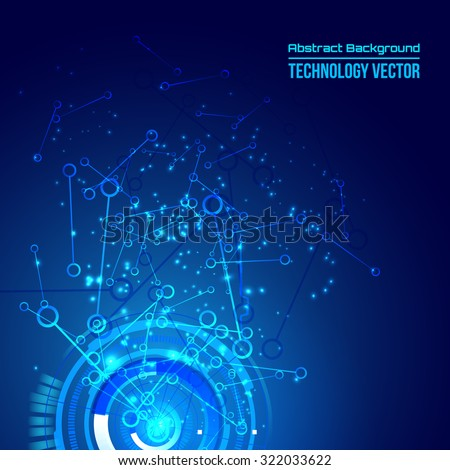 abstract background for futuristic high tech design - vector - stock vector