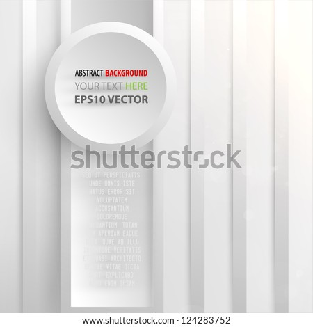 Abstract background for geometrical design, 3D effect - stock vector