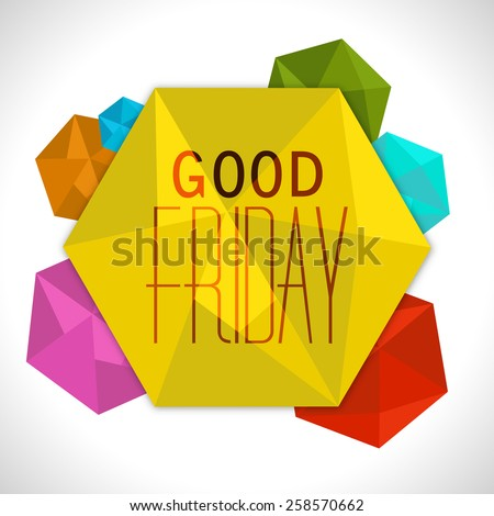 abstract background for good Friday design. - stock vector