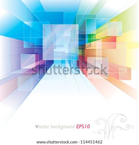 Abstract background for interior or architecture. - stock vector