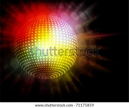 abstract background for nightlife related designs - stock vector