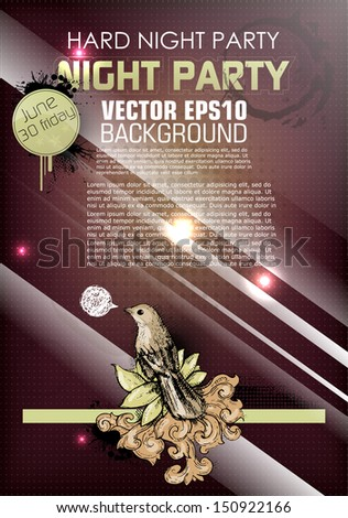 Abstract background for party - stock vector