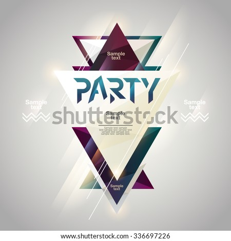 Abstract background for party poster  - stock vector