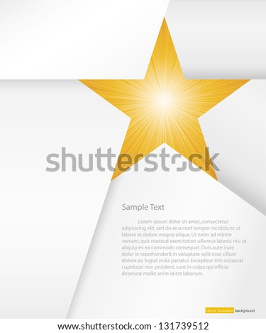 abstract background for sample text with burst in star space: white&orange