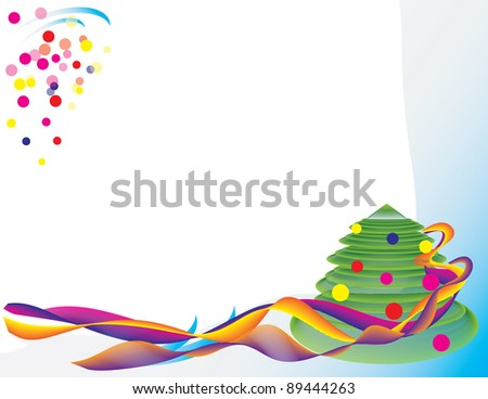 Abstract background for the New Year. Vector illustration.