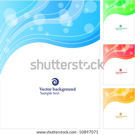 Abstract background. Four variants of color