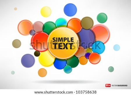 abstract background from the round buttons