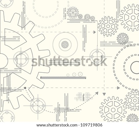 Abstract background gear. Eps10 vector. - stock vector