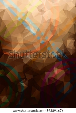 Abstract background. Geometric abstract vector background, pastel color. Modern and stylish abstract design poster, cover, card design. Hand drawn vintage texture, dots pattern and geometric elements - stock vector
