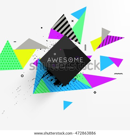 Abstract Background. Geometric Triangles Pattern for Business Presentations, Application Cover and Web Site Design. Vector Illustration.