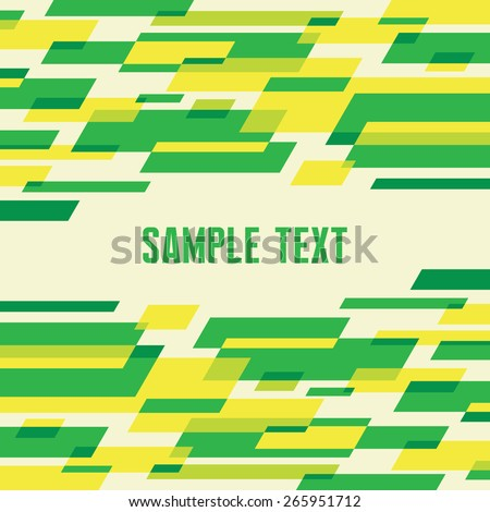 Abstract background - geometric vector pattern in green colors. - stock vector