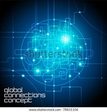 abstract background global internet connections concept - stock vector