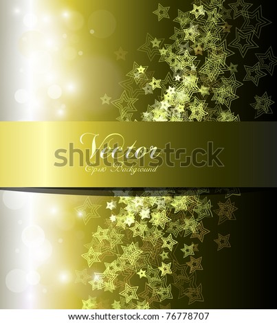Abstract background gold and green, vector. - stock vector