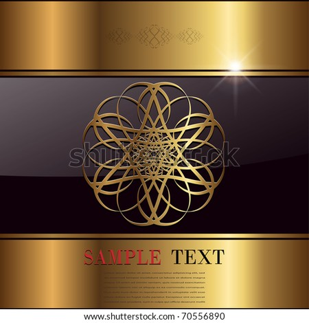 Abstract background  gold, vector illustration. - stock vector