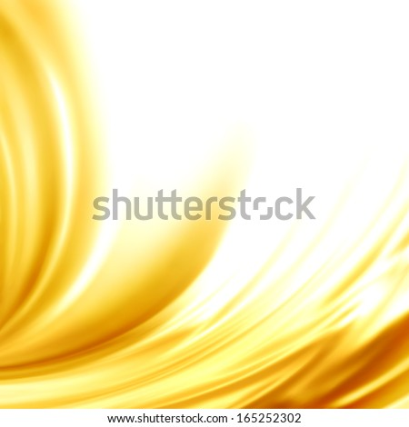 Abstract background golden silk liquid swirl frame for trendy luxury wedding invitation card menu design vector - stock vector