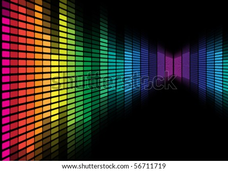 Abstract Background - Graphic Equalizer - stock vector