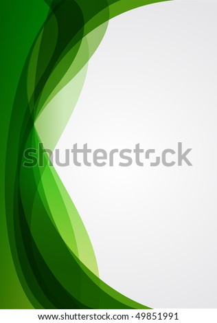 abstract background green - stock vector