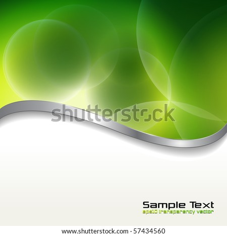 Abstract background  green lights. Vector illustration. - stock vector
