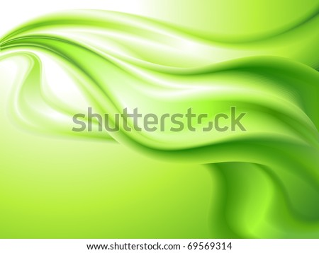 abstract background green (no mesh) - stock vector