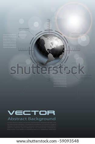 abstract background grey technology, vector. - stock vector