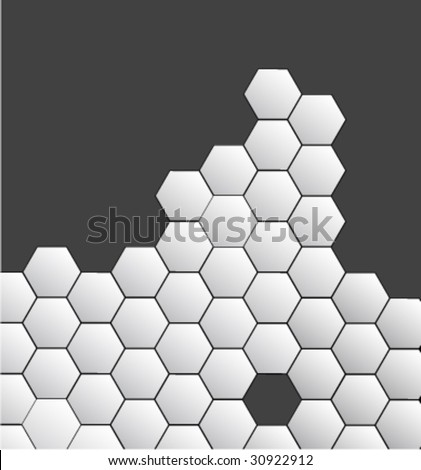 Abstract background honeycombs - stock vector