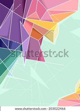Abstract Background Illustration Featuring Random Geometric Patterns - stock vector