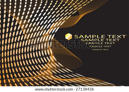 Abstract background image with space to include your own text - fully editable - stock vector