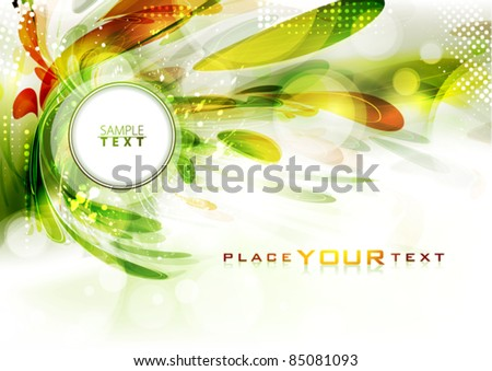 Abstract background in autumn colors. Vector - stock vector