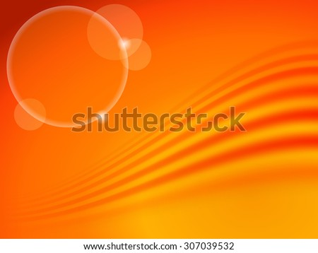 Abstract background in autumn colors with wave. Vector Illustration EPS10. - stock vector