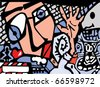 Abstract background in graffiti style - stock vector