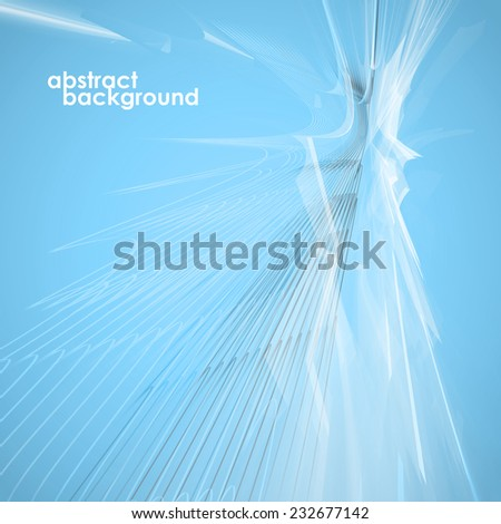 Abstract background in the futuristic design,  lines with a glow. Vector illustration - stock vector