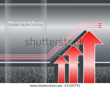 Abstract background, increase/growth concept - stock vector