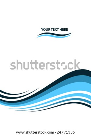 abstract background layout wave - stock vector