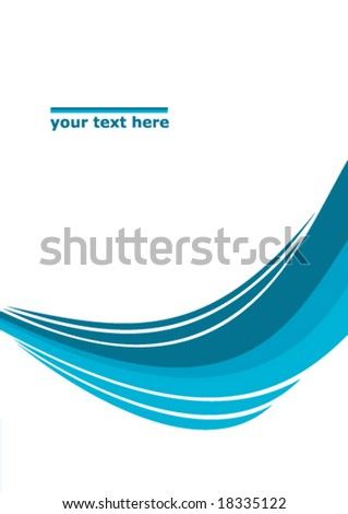 abstract background layout wave text company design - stock vector