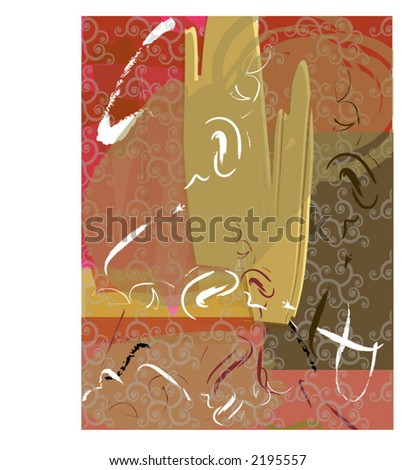 Abstract background (light filigree overlay) - stock vector