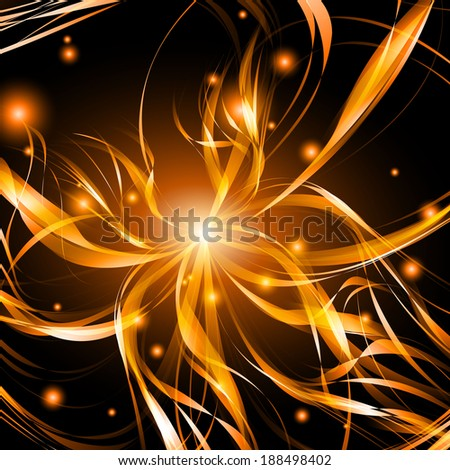 Abstract background light lines, futuristic wave. Vector illustration
