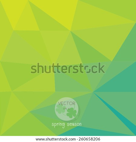 abstract background,  low poly design,for spring and nature season hipster concept with logo, text can be edited, texture  wallpaper, pattern fills, web page background,surface textures. - stock vector