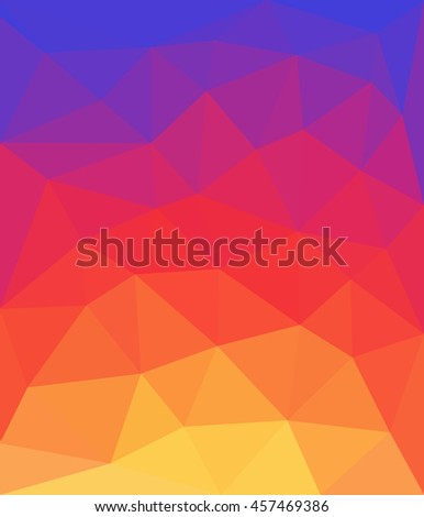 Abstract background made from color triangles - stock vector