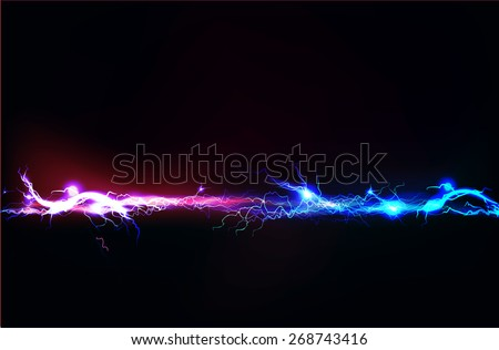 Abstract background made of Electric lighting effect - stock vector