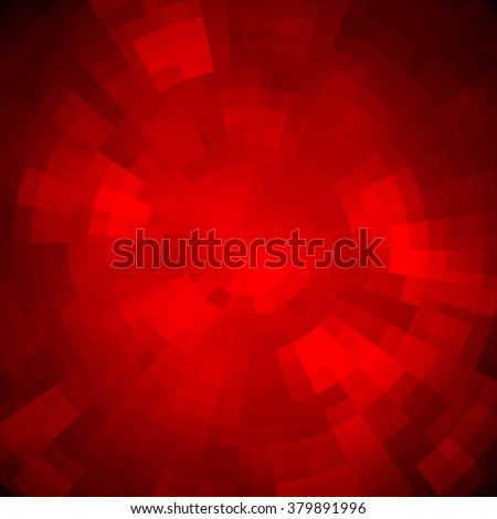 Abstract background made of shiny mosaic pattern. Disco style.  For design party flyer, leaflet and nightclub poster. Red color - stock vector