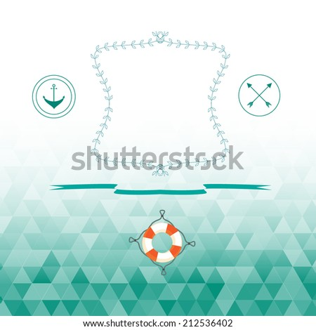Abstract background marine blue color. vector image - stock vector