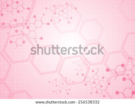 Abstract background medical substance and molecules. - stock vector