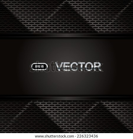 Abstract background, metallic brochure, vector - stock vector