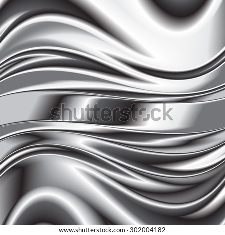 Abstract background metallic silver banners vector 3 - stock vector