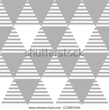 Abstract background. Modern seamless pattern with triangles. Vector illustration - stock vector