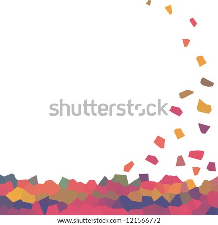 Abstract background-mosaic. vector illustration. - stock vector