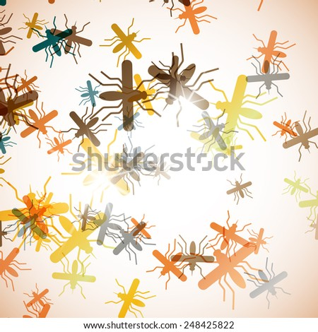 abstract background: mosquito - stock vector