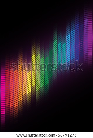 Abstract Background - Multicolor Equalizer - stock vector